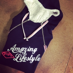 "Sweat double zip ""Amazing Lifestyle"""