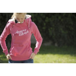 "Sweat double zip ""Amazing Lifestyle"" Rose"
