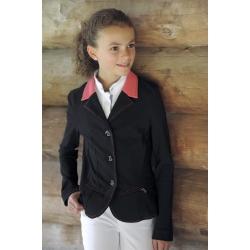 Veste de concours SPORT Point Sellier - Noir & corail - Enfant