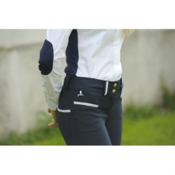 "Pantalon d'équitation ""LIGHT LUREX"" - marine"