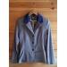 Veste de concours - point sellier -  grise col bleu roi