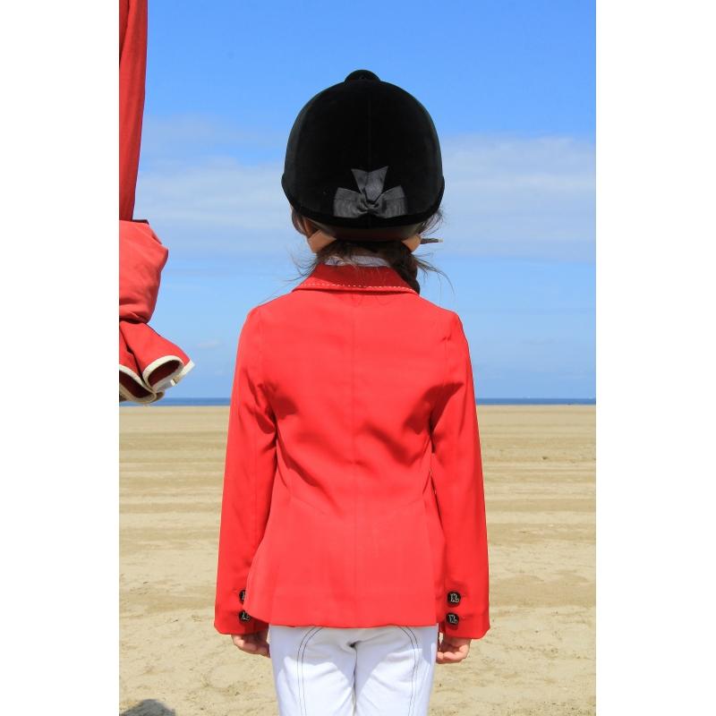 Veste de concours rouge equitation