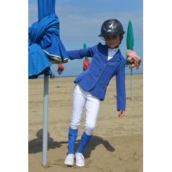Veste de concours point sellier enfant Bleu roi