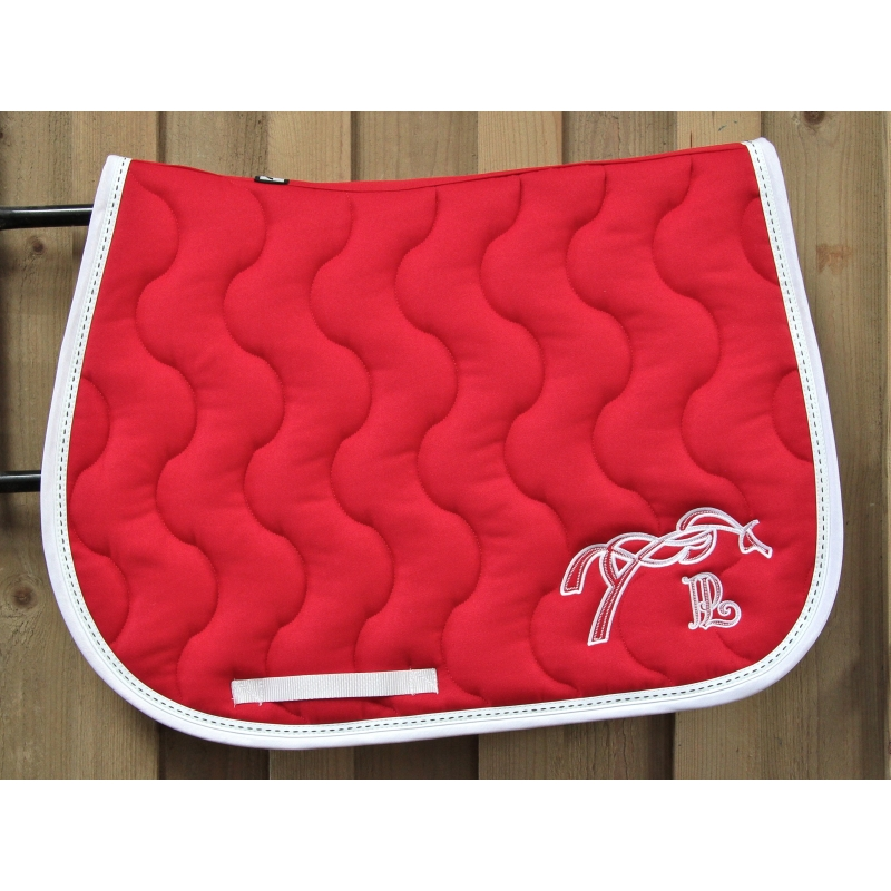 Saddle stitch saddle pad red penelope store - Tapis de selle penelope leprevost ...