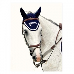 Bonnet Point Sellier - Marine/ blanc
